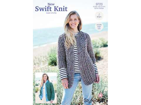 Jackets in Stylecraft New Swift Knit Super Chunky (9723)