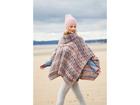 Poncho & Snood in Rico Design Creative Melange Chunky (RD780)