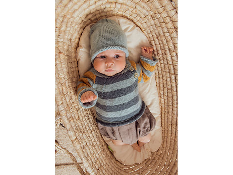 Sweater, Jacket and Hat in Rico Design Baby Dream Luxury Touch DK (974)