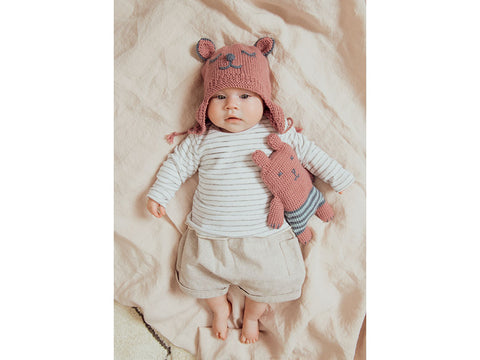 Hat and Teddybear in Rico Design Baby Dream DK Uni (97979)