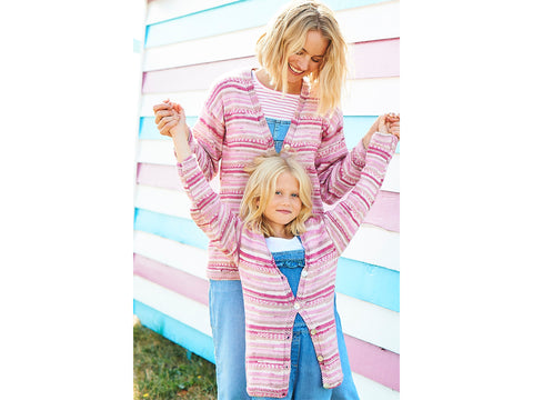 Cardigan and Sweater Knitting Kit and Pattern in Stylecraft You & Me Yarn (9821)