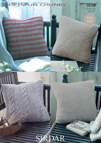 Cushion Covers In Sirdar Softspun Chunky (9854) - Digital Version-Deramores