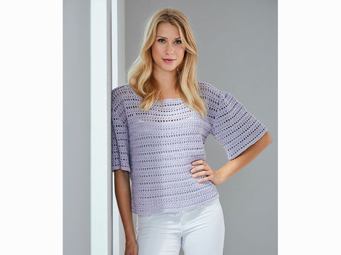 Crochet Shirt in Schachenmayr Peach Cotton (S10459)