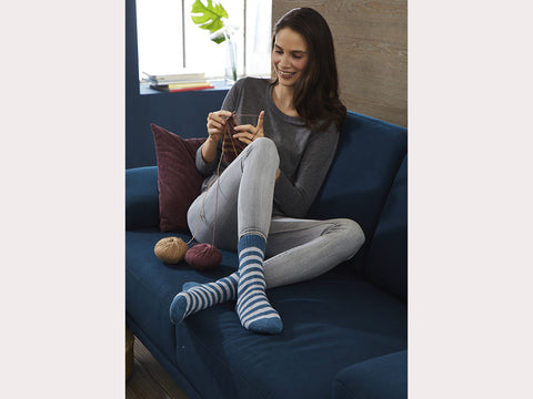 Striped Socks in Regia Premium Silk & Premium Merino Yak (R0357)