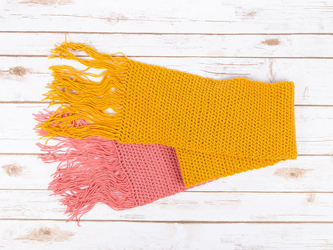 A Tale Of Two Tones Scarf Crochet Kit and Pattern