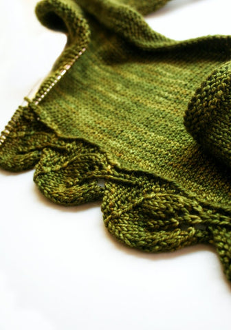 Cedar Leaf Shawlette by Never Not Knitting