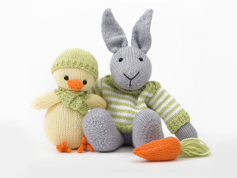 Easter Bunny and Chick in Deramores Baby DK - By Amanda Berry