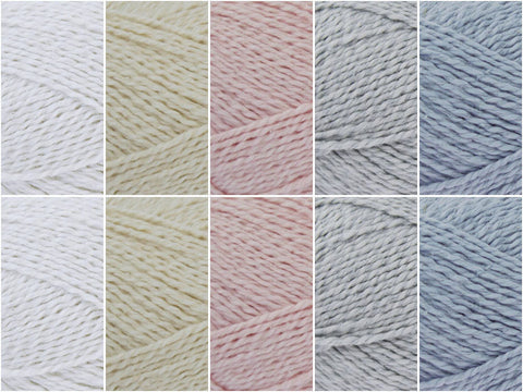 Antique Lace Colour Pack in King Cole Finesse Cotton Silk DK