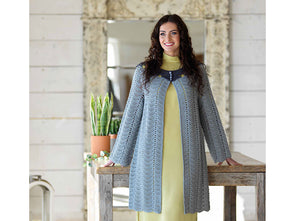 Audrey Swing Jacket by Jane Crowfoot in West Yorkshire Spinners ColourLab DK
