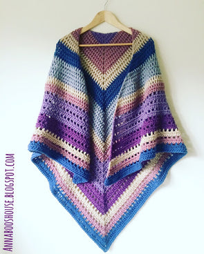 Autumn Storm Wrap - By Sarah Shrimpton - Digital Pattern