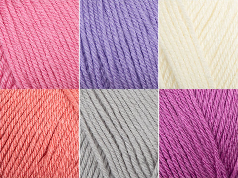 Deramores Studio DK Baby Girl Colour Pack (with a choice of Free Pattern)
