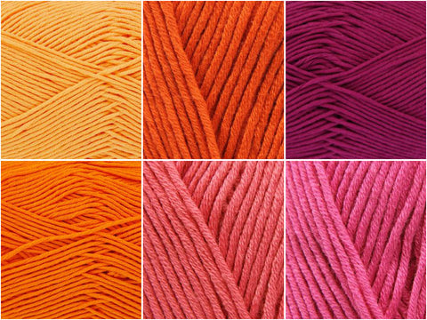 King Cole Bamboo Cotton DK - Sunsets Colour Pack