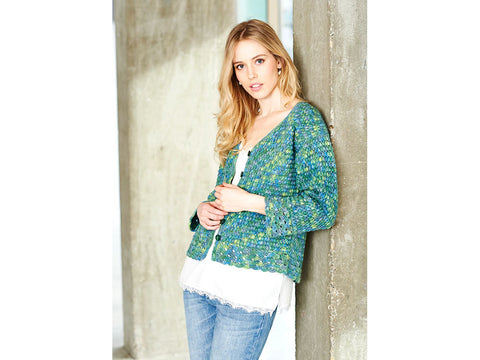 Cardigan Crochet Kit and Pattern in Stylecraft Yarn