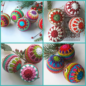 Carmen Heffernan - Christmas Bauble Kit - Yarn and Pattern