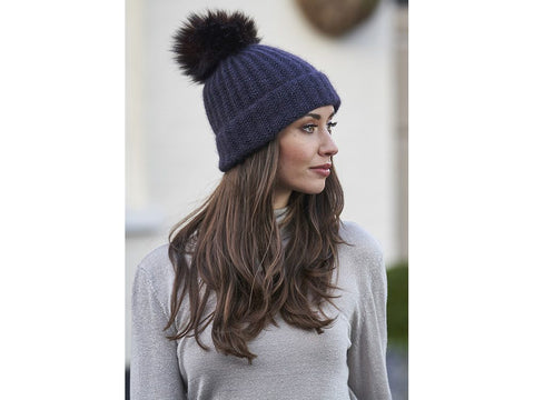 Beatrice Beanie by Lisa Richardson in Rowan Selects Sultano Fine