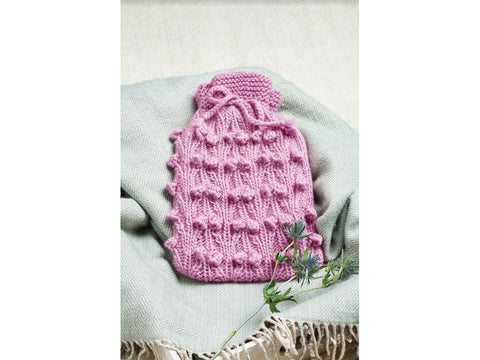 Let's Knit Beautiful Berries Hot Water Bottle Cosy in West Yorkshire Spinners Re:Treat