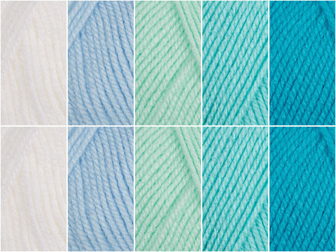 Blue Lagoon Colour Pack in Deramores Studio Baby DK