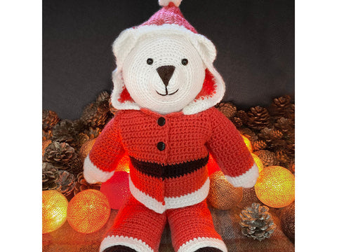 Bo Bear Santa Suit in West Yorkshire Spinners Bo Peep Luxury Baby DK