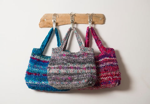 Boho Bag Crochet Kit and Pattern in Rico Design Yarn