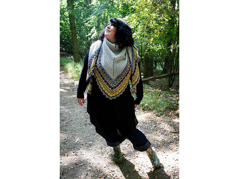 Bryony Shawl Crochet Kit and Pattern in Rowan Yarn