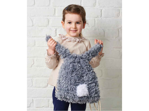 Simply Knitting Fluffy Bunny Rucksack by Amanda Berry in King Cole Tufty