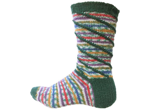 Jolly Holly Socks in Cygnet Yarns Truly Wool Rich 4 Ply