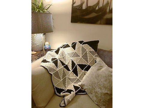Geo-Mono Blanket Crochet Kit and Pattern in Cygnet Yarn (CY1165)