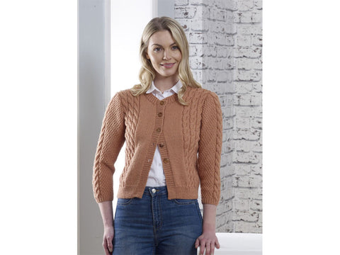 Sienna Cardi Knitting Kit and Pattern in Cygnet Yarn (CY1303)