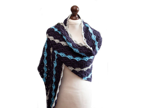 Summer Shells Shawl Crochet Kit and Pattern in Cygnet Yarns