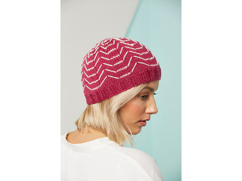 Knit Now Aragon Hat Colour Pack in Erika Knight British Blue Wool