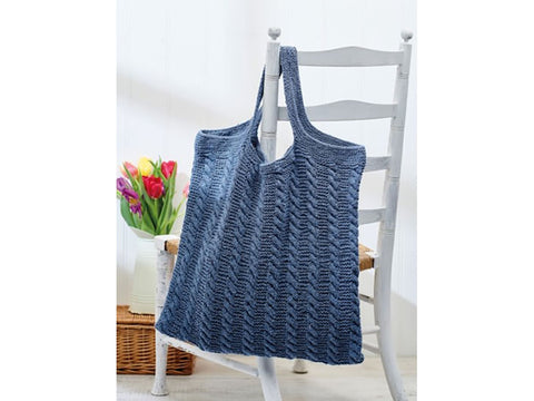 Let's Knit Cabled Bag Colour Pack in Rowan Denim Revive