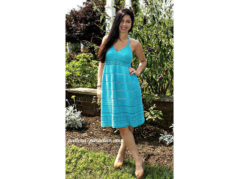 Calypso Kiss Sundress Crochet Kit and Pattern in King Cole Yarn