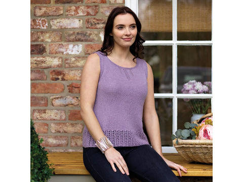 Camilla A-Line Lace Top in West Yorkshire Spinners Exquisite Lace