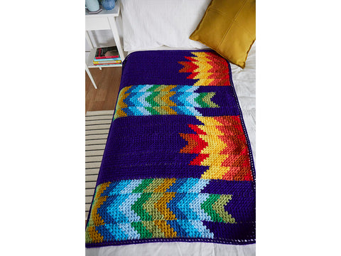 Crochet Now Campfire Blanket Colour Pack by Magdalene Lee in Cygnet DK