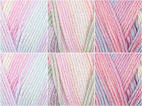 Candy Pastels Colour Pack in King Cole Beaches DK