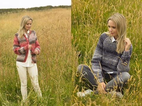 Ladies Cardigan & Sweater in James C. Brett Mojo Magic Chunky (JB543)