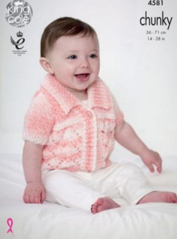 Cardigans in King Cole Baby Soft Chunky - Big Value (4581)-Deramores
