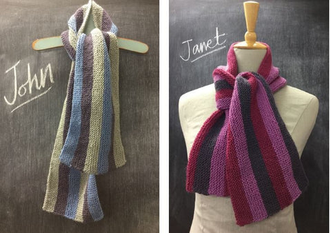 Janet and John Striped Scarf Digital Version-Deramores