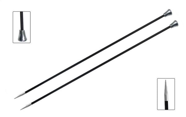 Karbonz Single Pointed Needles (Carbon Fibre) - 35cm