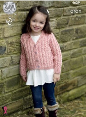 Cardigans in King Cole Fashion Aran Combo (4629)-Deramores