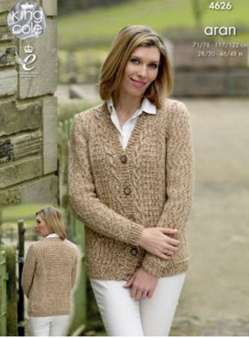Aran Weight Knitting Patterns Deramores