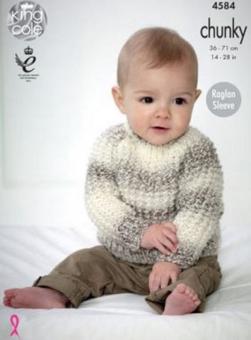 Sweaters in King Cole Baby Soft Chunky - Big Value (4584)