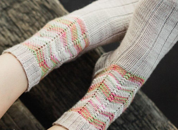 Petal Socks in SweetGeorgia Yarns Bulletproof Sock - Digital Version