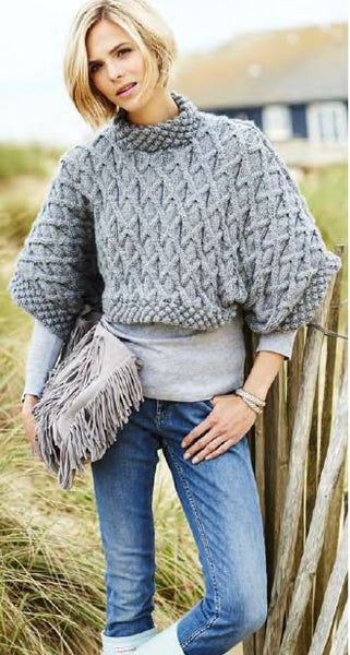 Big, Bold Aran Patterned Chunky Knit Tee Digital Version