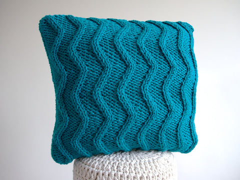 Cascade Cushion by Leonie Morgan in Deramores Studio Chunky