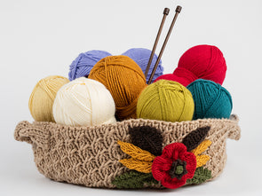 Ceres Decorated Basket by Charmaine Fletcher in Deramores Studio DK