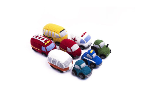 Deramores Vehicles and Playmat in Studio - Small, Deramores Vehicles and Playmat in Studio - Small (with stuffing), Deramores Vehicles and Playmat in Studio - Large, Deramores Vehicles and Playmat in Studio - Large (with stuffing)