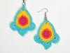 Colourburst Earrings by Zoë Potrac in Rico Design Essentials Crochet