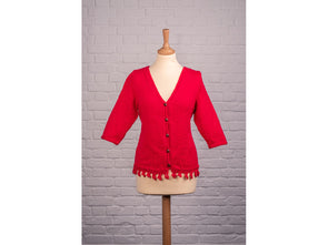 Ladies Crochet Edge Cardigan by Sarah Murray in Deramores Studio DK
