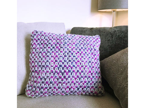 Linen Stitch Cushion in Cygnet Yarns Seriously Chunky Prints